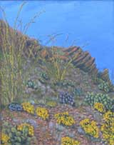 Big Bend painting by Copper Love Yellow Autumn Flowers