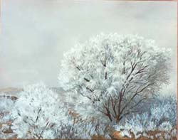 West Texas ice storm painting by Copper Love