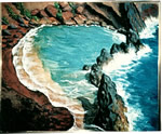 Hawaii painting Red Sands Beach by Copper Love